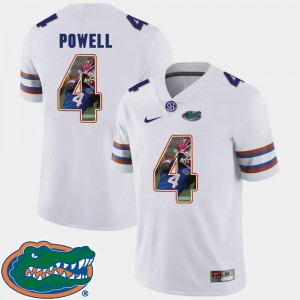 Florida Gators Brandon Powell Jersey White For Men's Football Pictorial Fashion #4