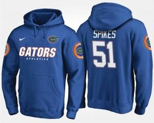 Florida Gators Brandon Spikes Hoodie Blue #51 Men