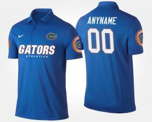 Florida Gators Customized Polo #00 Blue For Men's