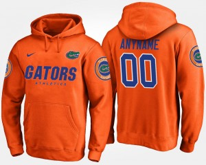 Florida Gators Customized Hoodie Orange #00 For Men