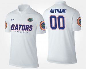 Florida Gators Custom Polo #00 Men White