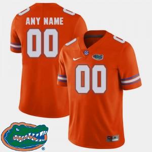Florida Gators Customized Jersey College Football Orange #00 Mens 2018 SEC