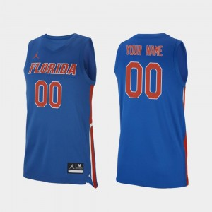 Florida Gators Customized Jerseys Mens 2019-20 College Basketball Replica #00 Royal