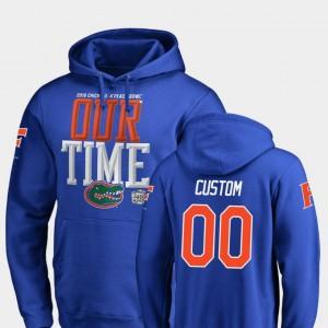Florida Gators Custom Hoodies Counter For Men 2018 Peach Bowl Bound Royal #00