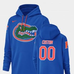 Florida Gators Customized Hoodie Mens #00 Royal Football Performance Champ Drive