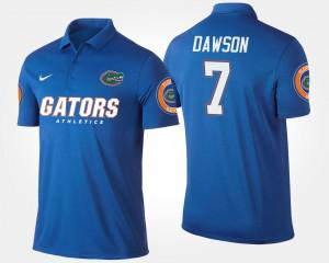 Florida Gators Duke Dawson Polo #7 Mens Blue