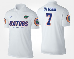 Florida Gators Duke Dawson Polo #7 For Men White