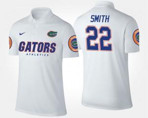 Florida Gators Emmitt Smith Polo White #22 For Men