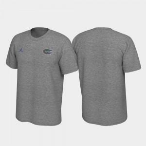 Florida Gators T-Shirt Legend Mens Heathered Gray Left Chest Logo