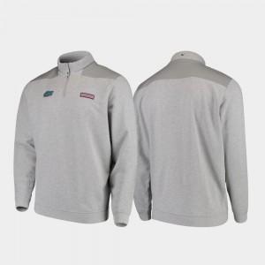 Florida Gators Jacket Quarter-Zip Heathered Gray Shep Shirt Men's