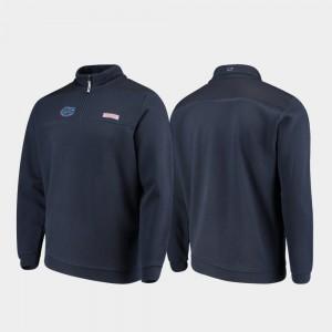 Florida Gators Jacket For Men Navy Quarter-Zip Shep Shirt