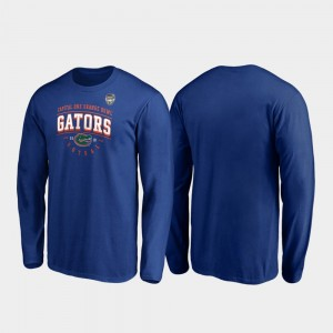 Florida Gators T-Shirt Men's Tackle Long Sleeve 2019 Orange Bowl Bound Royal