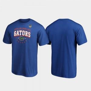 Florida Gators T-Shirt For Men's Royal 2019 Orange Bowl Bound Tackle