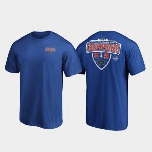 Florida Gators T-Shirt 2019 Orange Bowl Champions Hometown Lateral For Men's Royal