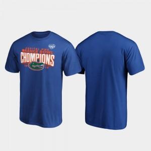 Florida Gators T-Shirt For Men Royal 2019 Orange Bowl Champions Receiver