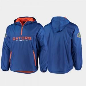 Florida Gators Jacket Base Runner Royal Half-Zip For Men's