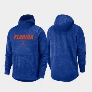 Florida Gators Hoodie Royal Mens Spotlight Basketball Team Logo Pullover