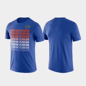 Florida Gators T-Shirt Fade Performance Royal Men's
