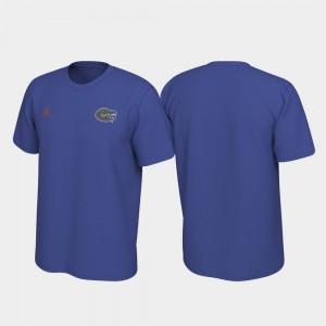 Florida Gators T-Shirt Royal For Men's Legend Left Chest Logo