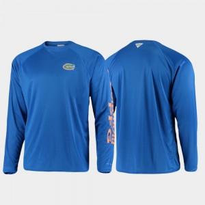 Florida Gators T-Shirt Royal Men Omni-Shade PFG Terminal Tackle Long Sleeve