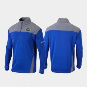 Florida Gators Jacket Royal Quarter-Zip Pullover Mens Omni-Wick Standard