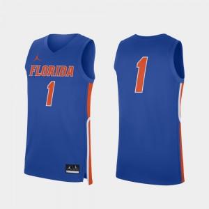 Florida Gators Jersey College Basketball Royal #1 Mens Replica