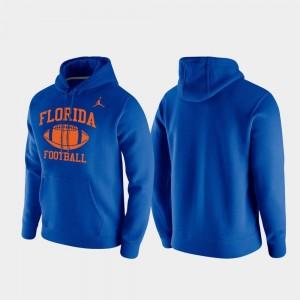 Florida Gators Hoodie Club Fleece Retro Football For Men's Royal