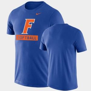 Florida Gators T-Shirt Drop Legend Performance Softball Royal For Men's