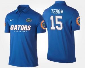Florida Gators Tim Tebow Polo For Men's #15 Blue