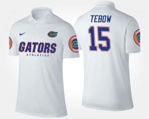 Florida Gators Tim Tebow Polo Mens White #15