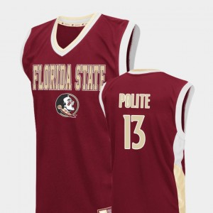 Florida State Seminoles Anthony Polite Jersey Fadeaway College Basketball Red For Men's #13