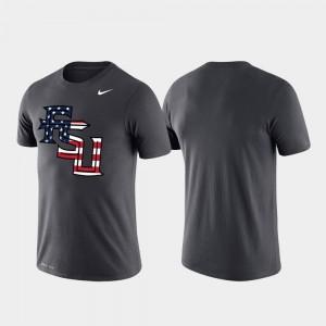 Florida State Seminoles T-Shirt Men's Performance Anthracite Americana Legend