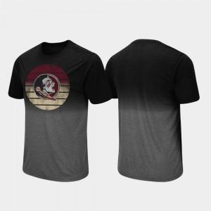 Florida State Seminoles T-Shirt Black Dip Dye Fancy Walking Men