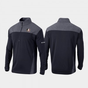 Florida State Seminoles Jacket Omni-Wick Standard Quarter-Zip Pullover Black For Men's