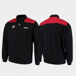 Florida State Seminoles Jacket Quarter-Zip Black Men's Shep Shirt
