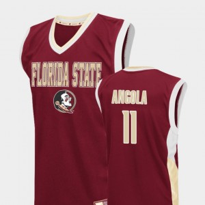 Florida State Seminoles Braian Angola Jersey College Basketball #11 Fadeaway For Men's Red