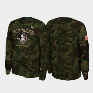 Florida State Seminoles T-Shirt Legend Long Sleeve 2019 Veterans Day Camo Men's