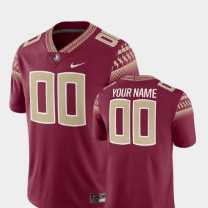 Florida State Seminoles Custom Jerseys Garnet 2018 Game Mens #00 College Football