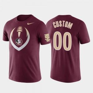 Florida State Seminoles Customized T-Shirts Men #00 Football Icon Garnet Performance