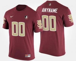 Florida State Seminoles Custom T-Shirt For Men Garnet #00