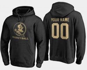 Florida State Seminoles Customized Hoodies For Men's Black Basketball - #00