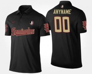 Florida State Seminoles Customized Polo Men's #00 Black