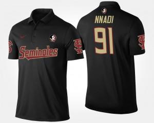 Florida State Seminoles Derrick Nnadi Polo Mens Black #91
