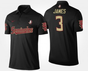 Florida State Seminoles Derwin James Polo For Men #3 Black