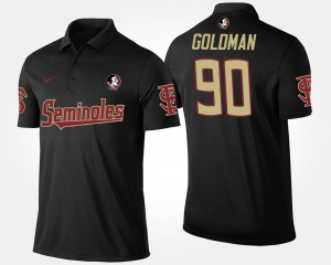 Florida State Seminoles Eddie Goldman Polo Men's #90 Black