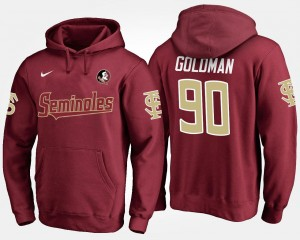 Florida State Seminoles Eddie Goldman Hoodie Garnet For Men's #90
