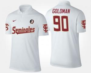 Florida State Seminoles Eddie Goldman Polo White For Men's #90