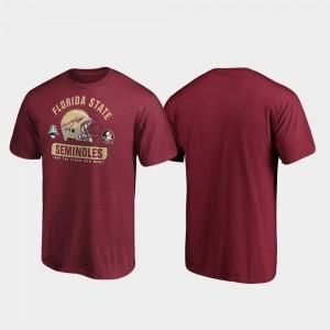 Florida State Seminoles T-Shirt Mens Garnet Spike 2019 Sun Bowl Bound