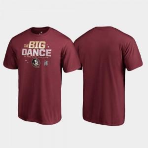 Florida State Seminoles T-Shirt March Madness 2019 NCAA Basketball Tournament Men Big Dance Garnet