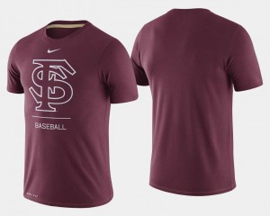 Florida State Seminoles T-Shirt Dugout Performance Men's Garnet College Baseball